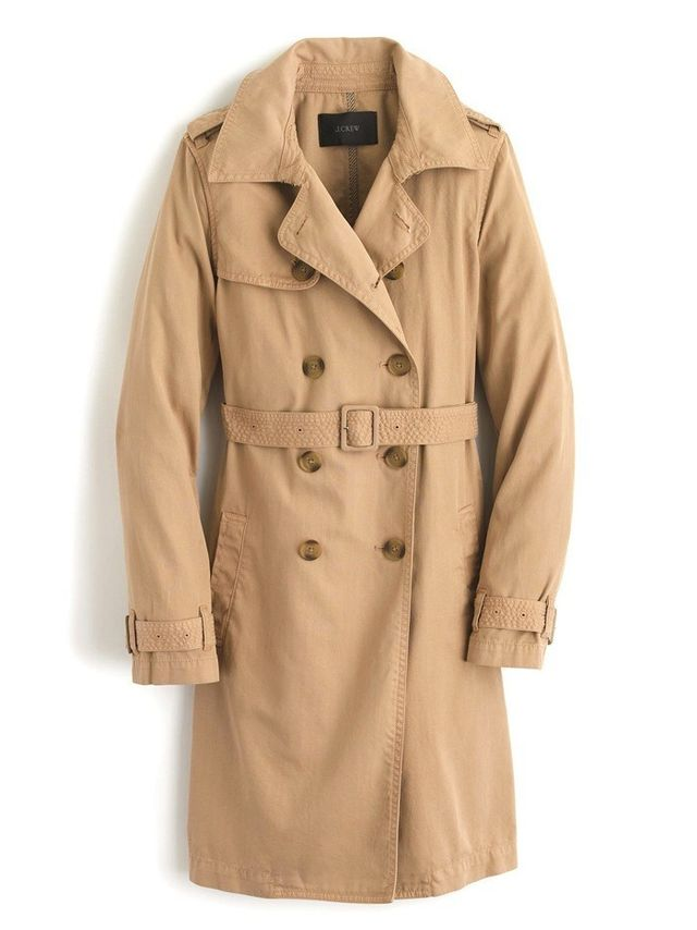 J.Crew Washed Cotton Trench Coat