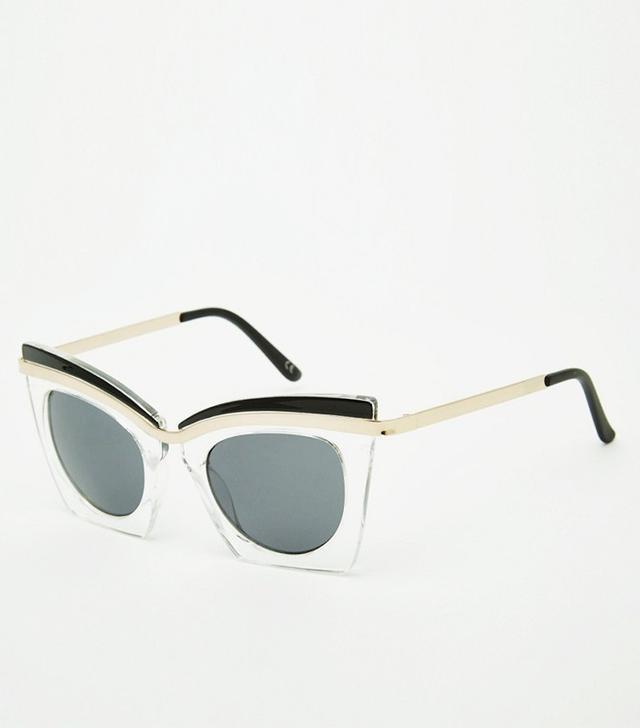 ASOS Square Cat Eye Sunglasses