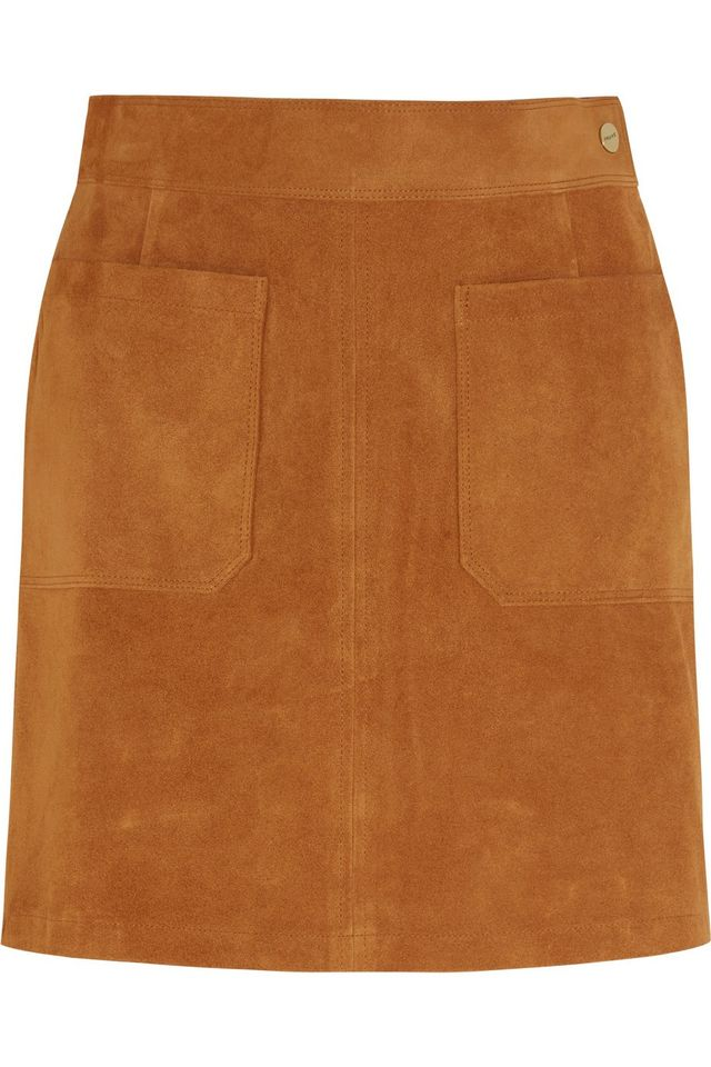 Frame Denim Le High Suede Mini Skirt
