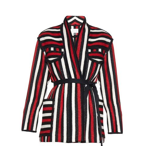 Breeda Wool-Blend Striped Jacket