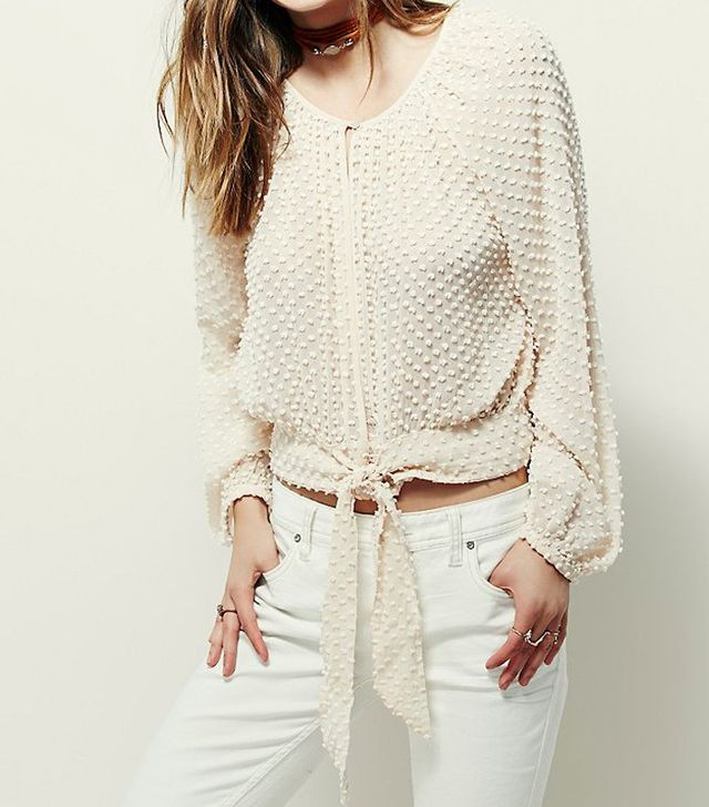 Free People Stay Together Dot Blouse