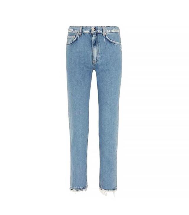 Acne Studios Distressed Mid-Rise Slim Boyfriend Jeans