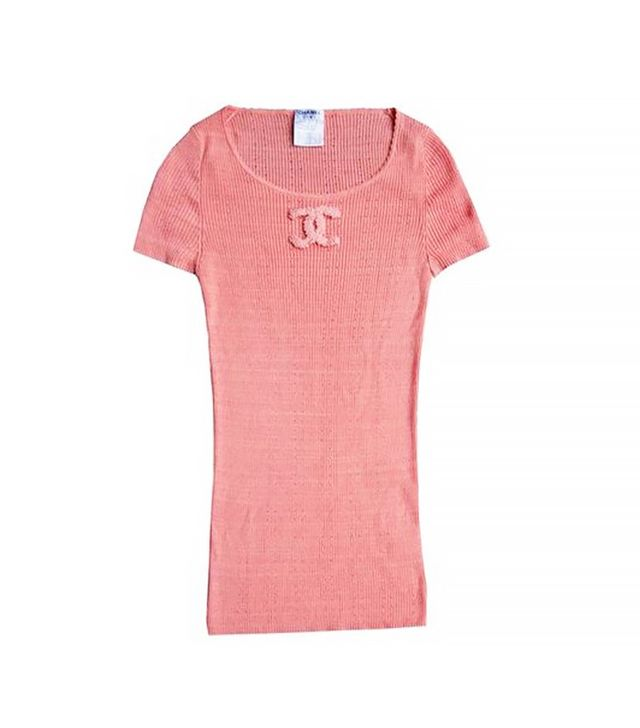 Chanel Vintage CC Ribbed T-Shirt