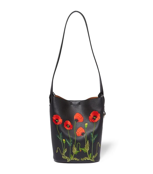 Stella McCartney Embroidered Faux Leather Shoulder Bag