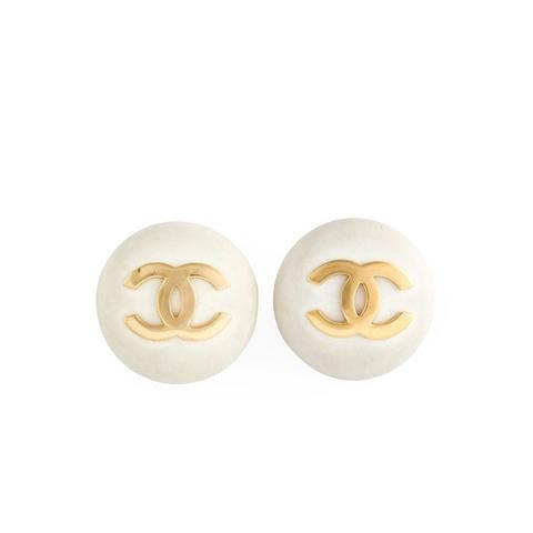 Logo Button Clip-On Earrings