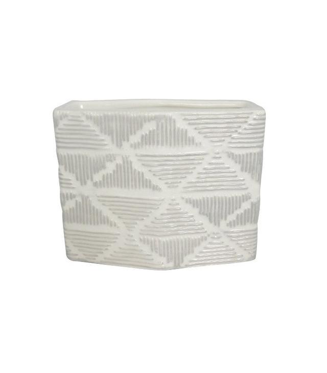 Nate Berkus Small White Textured Ceramic Vase
