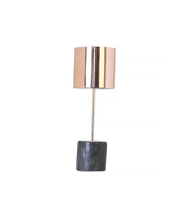 Threshold Copper Stick Lamp With Cylinder Marble Base