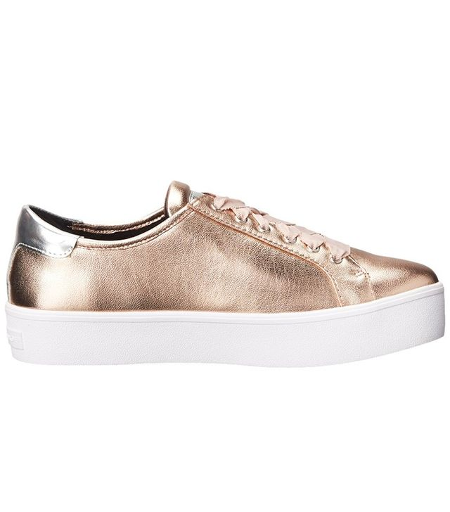 these rose gold mcqueen sneakers are selling out whowhatwear. Black Bedroom Furniture Sets. Home Design Ideas