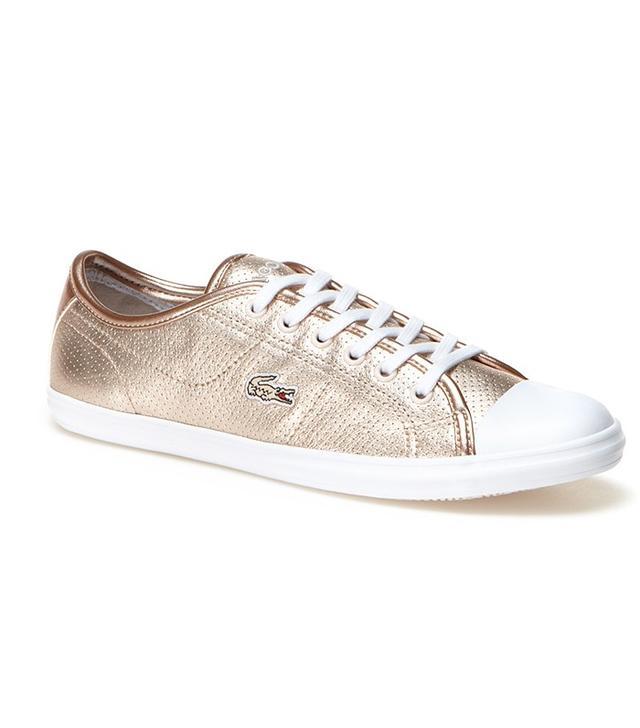 Lacoste Zaine Metallic Leather Sneakers