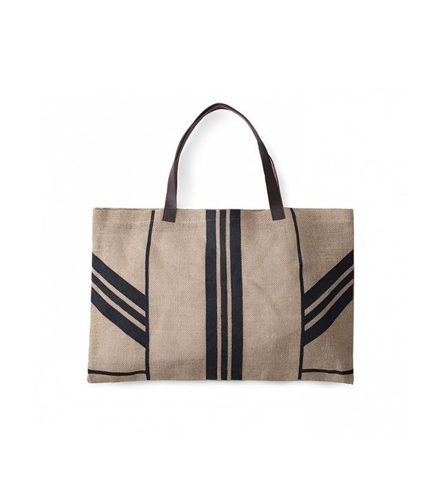 The Beach People Jute Stripe Bag