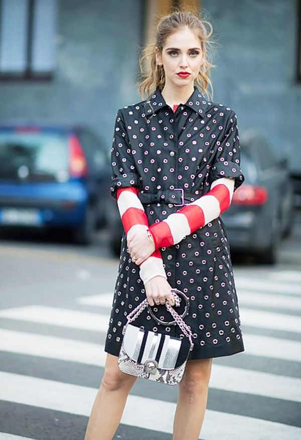 Style Tip: Layer a long-sleeved shirt underneath your shirt dress.