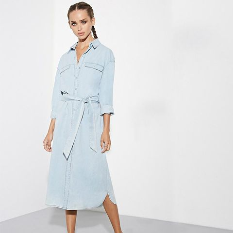 Light The Way Shirt Dress