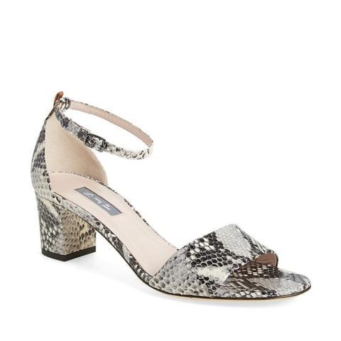 Skyler Snake Embossed Sandals