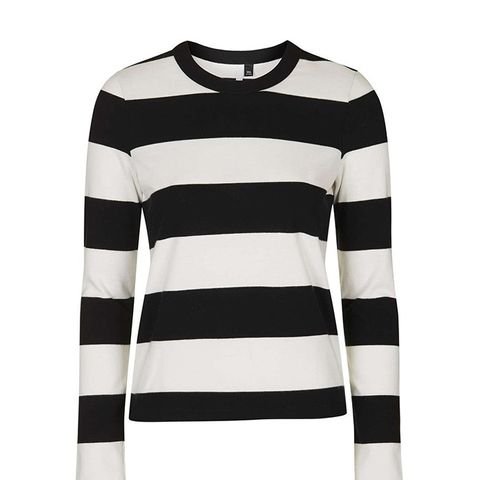 Mono Wide Stripe Top