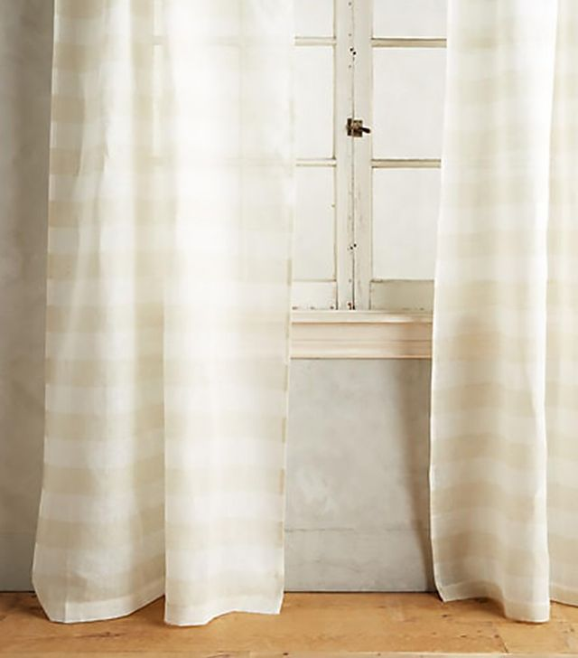 Anthropologie Averill Striped Curtain