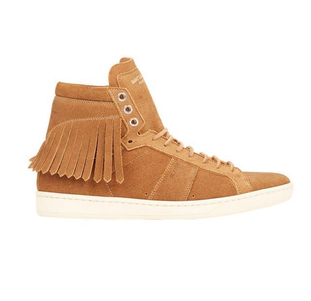 Saint Laurent Fringe-Trim Court Classic Sneakers