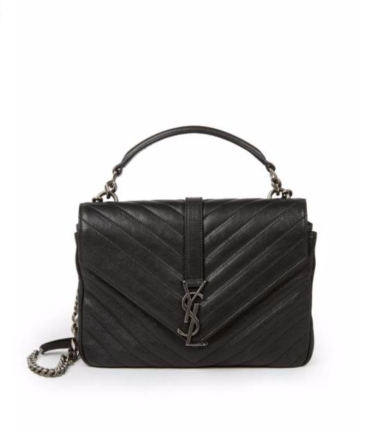 Saint Laurent Monogram Medium Matelasse Leather College Bag