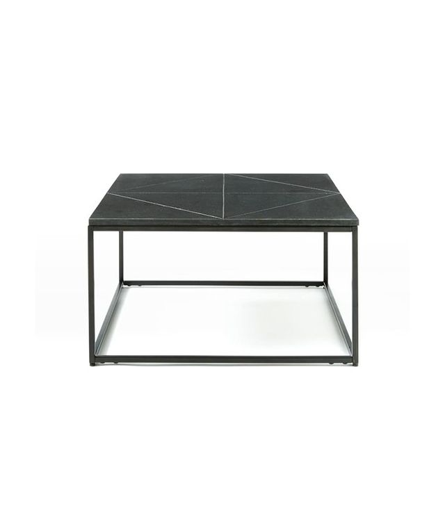 One Kings Lane Etched Granite Side Table