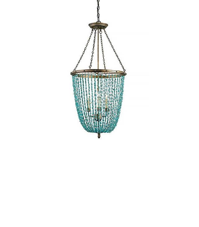 Bonanza Turquoise & Iron 3 Light Chandelier Pendant