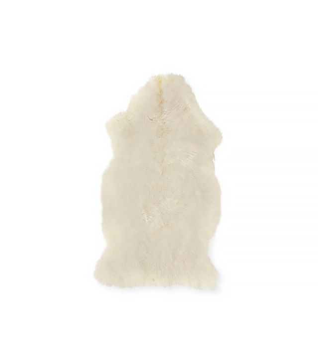 Design Within Reach White Sheepskin Throw