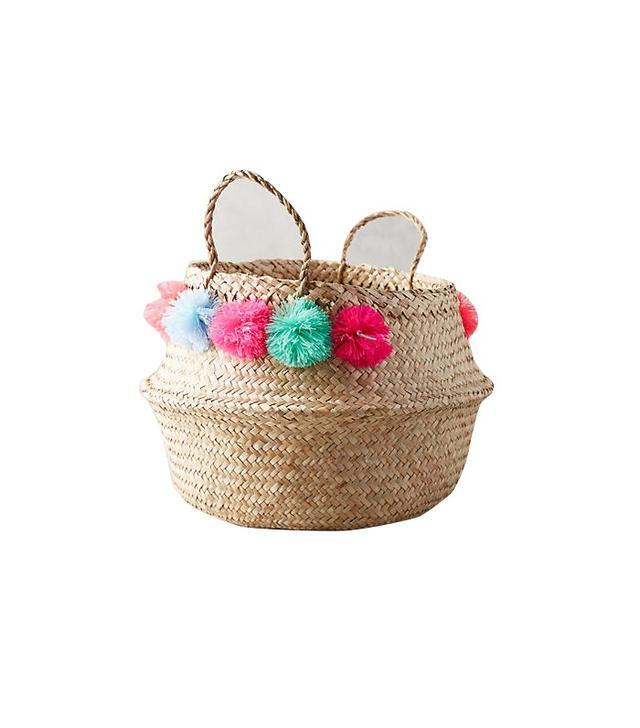 Eliza Gran Pom Pom Seagrass Basket