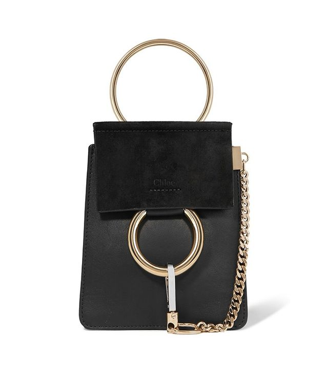 Chloé Suede Mini Suede and Leather Clutch