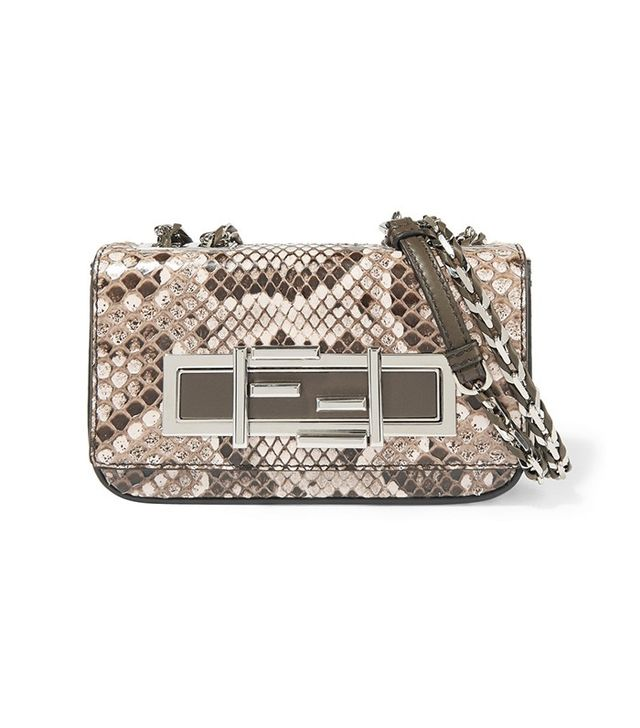 Fendi Baguette Mini Python Shoulder Bag