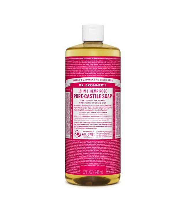 Dr Bronner's Organic Rose Castile Liquid Soap
