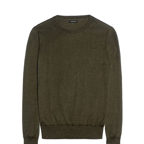 Split Cuff Crew Sweater