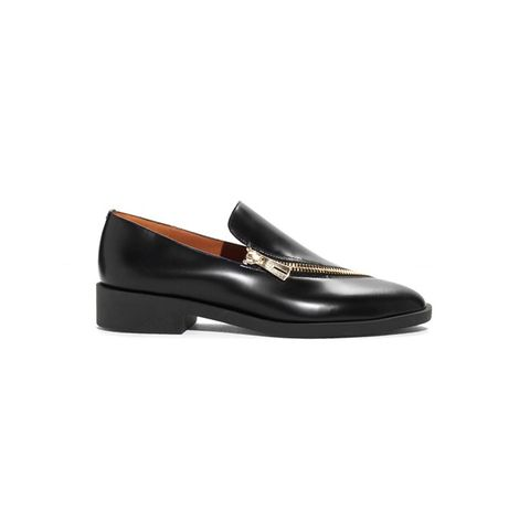 Zip-Detailed Leather Loafers