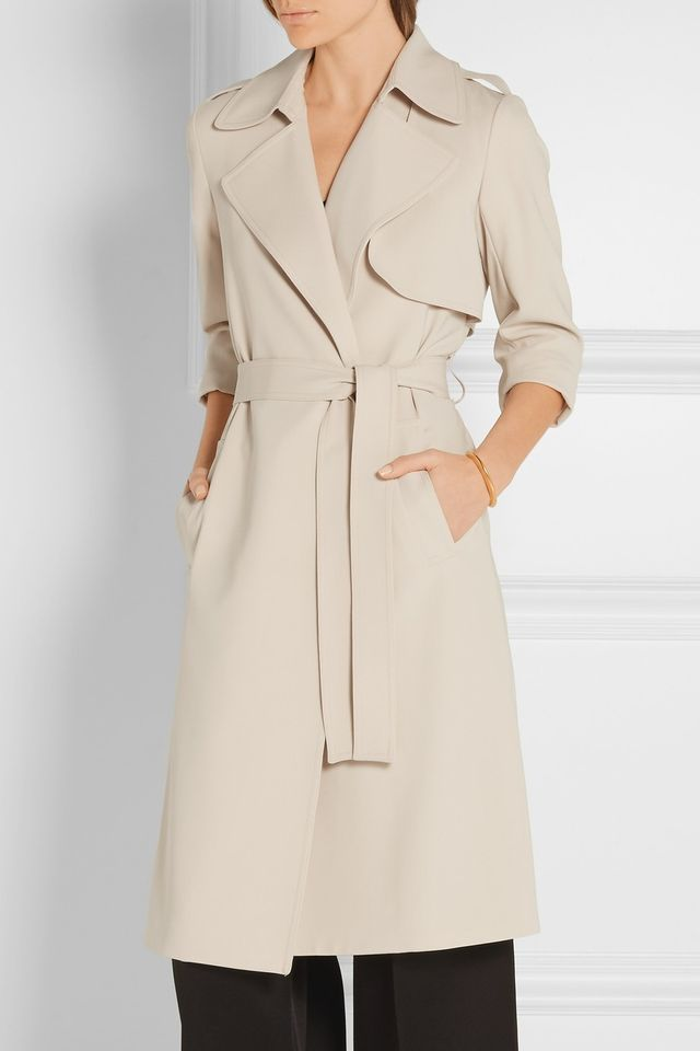 Theory Oaklane B Crepe Trench Coat