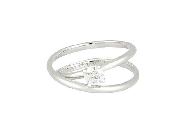 Maison Margiela Fine 0.30 Carat Solitaire Twisted Ring