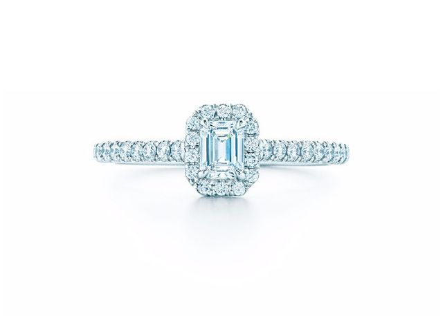 Tiffany & Co. 0.25 Carat Soleste Emerald Cut Engagement Ring