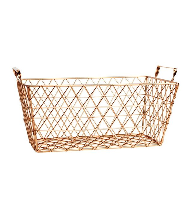 H&M Home Small Metal Wire Basket