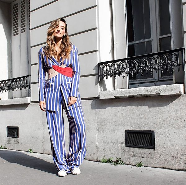 Use vertical stripes to elongate any look. If you're daring, go for head-to-toe stripes for maximum effect.