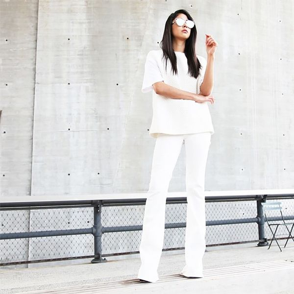The monochrome look is in vogue right now, and it's insanely flattering. Wear one color from head to toe to avoid any visual breaks.