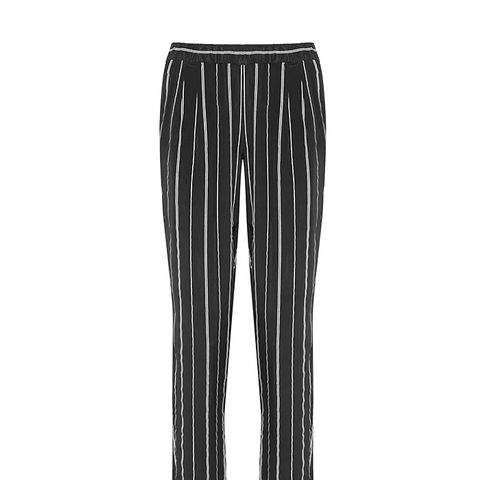 Hadley Striped Washed-Silk Pants