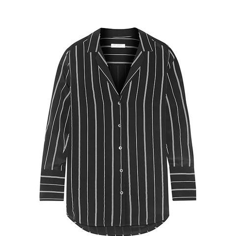 May Striped Washed-Silk Shirt