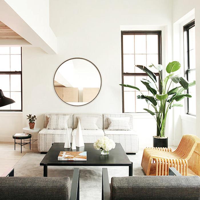 11 Ways to Style Large Round Mirrors | MyDomaine