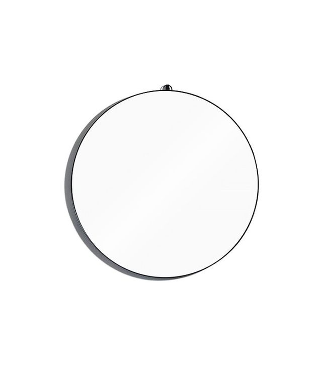 consort round metal framed mirror
