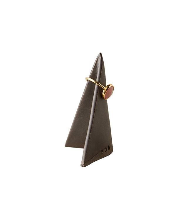 Anthropologie Ceramic Origami Ring Cone