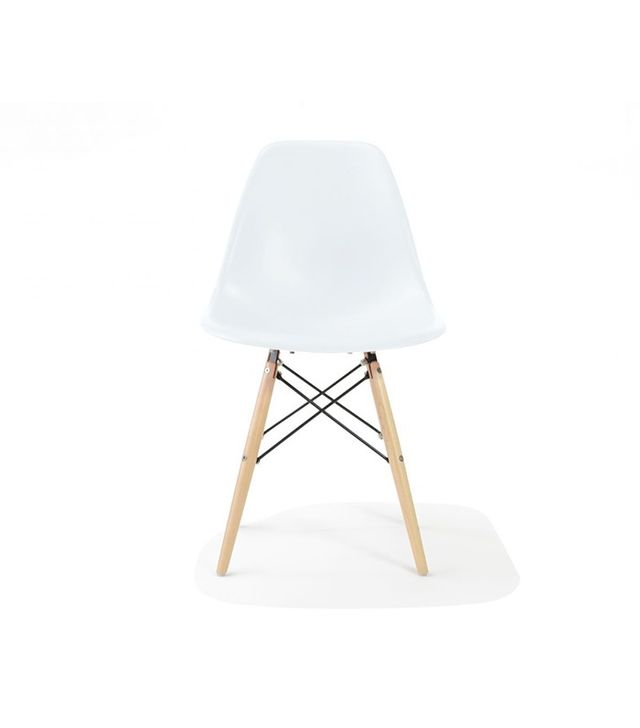 Rove Concepts DSW Molded Plastic Side Chair Wooden Dowel Base