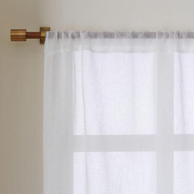 West Elm Sheer Linen Curtain - Ivory