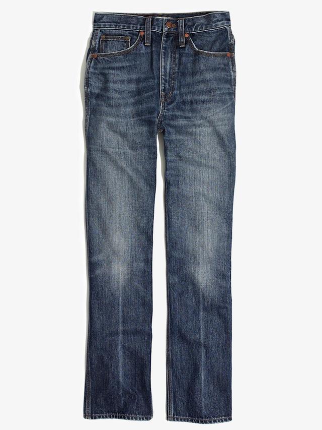 Madewell Rivet & Thread High Rise Crop Flare Jeans