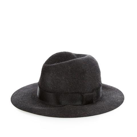 Floppy Brim Rabbit-Fur Felt Fedora Hat