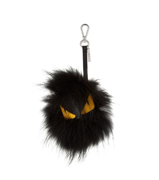 Fendi Fusto Bag Bugs Fox-Fur and Leather Charm