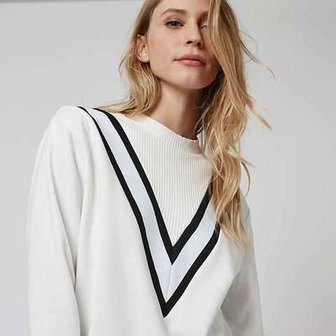 Sporty Color Block Sweatshirt
