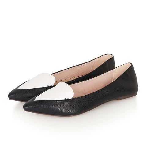 Van Stitch Point Flat Shoes