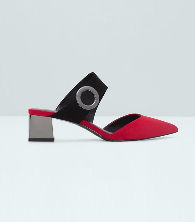 Mango Metallic Heel Shoes