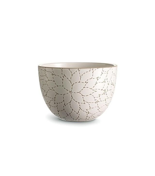 Heath Ceramics Camellia Etched Deep Serving Bowl